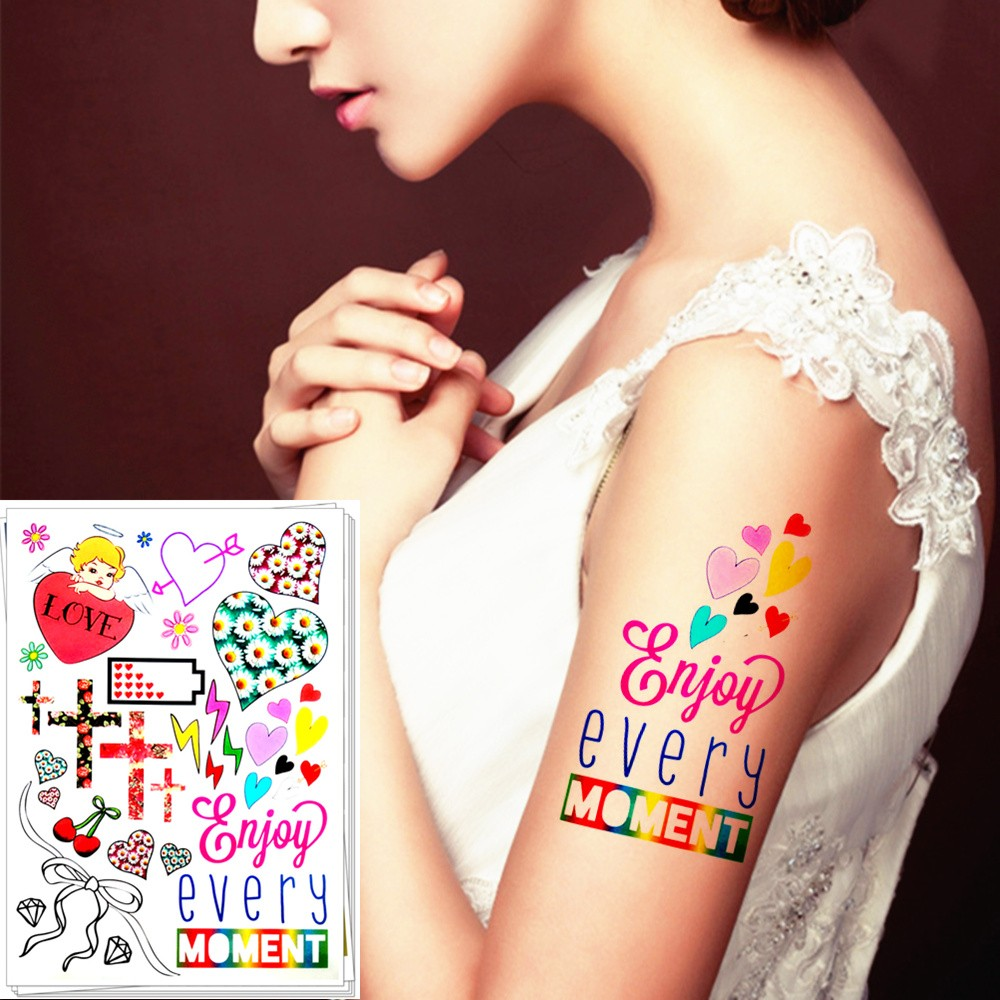 US $1 99 SHNAPIGN Kartun Malaikat Cinta Temporary Tattoo Body Art 12 20 Cm Flash Tattoo Stiker Waterproof Palsu Tatoo Henna Wall Sticker In