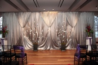 Pure Silver Color ice silk fabric wedding stage curtain wedding backdrop 10ft x 20ft Event Decoration