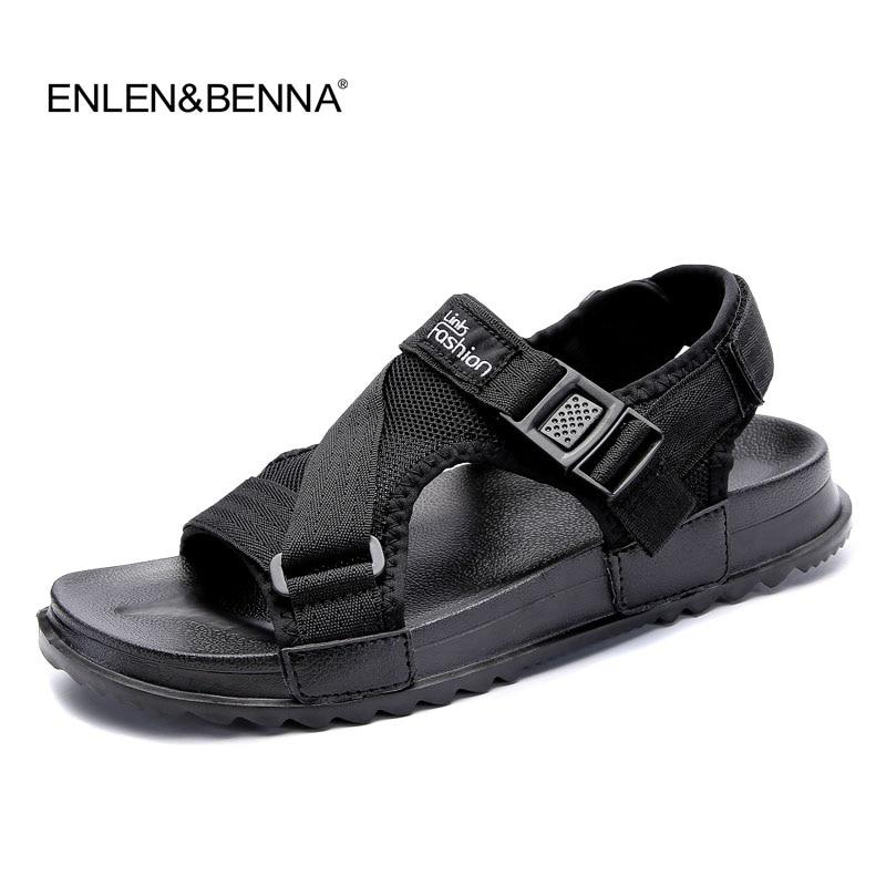 3f1c6c90ac3ea0 Fashion Sandals Men 2017 Vintage Rome Style Summer Beach Sandals Breathable  Casual Shoes Solid Men Sandals
