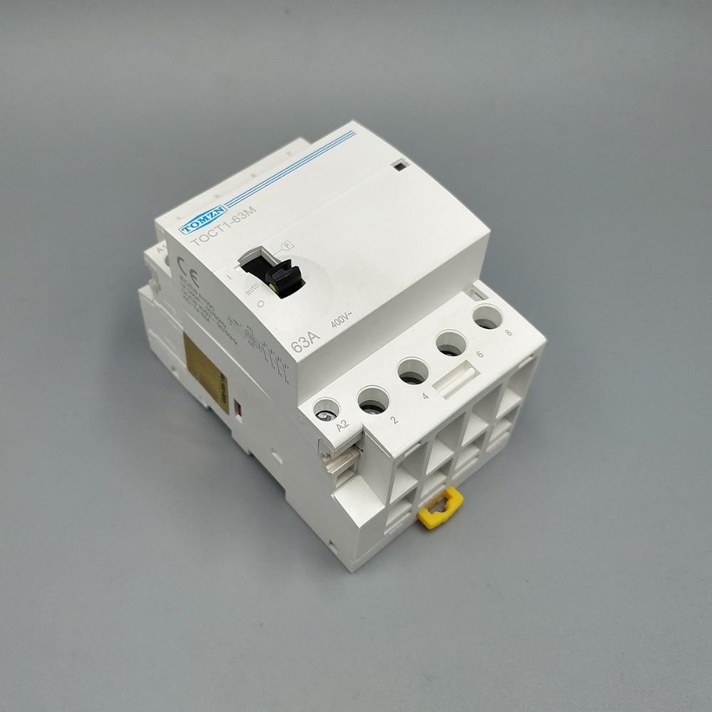TOCT1 4 P 63A 220 V/230 V 50/60 HZ su guida Din Per Uso Domestico ac Modulare contattore con interruttore di Comando manuale 4NO o 2NO 2NC o 4NC