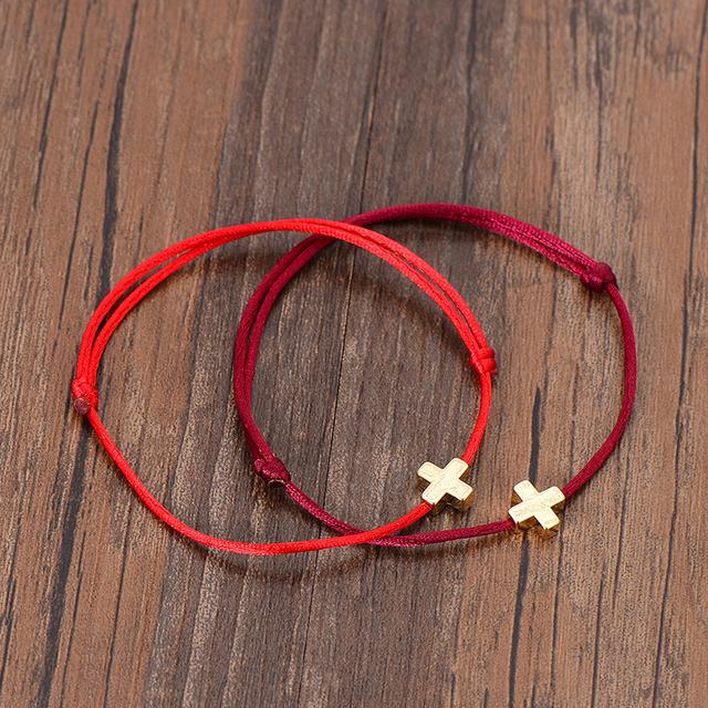 Women's Cross Design Beads Bracelet