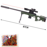 DIY assembled plastic water bullet toy machine gun sniper rifle, infrared precise positioning shoot outdoor game