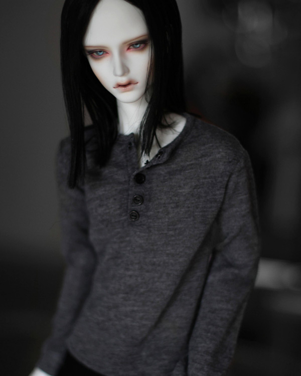 1/3 SD17 uncle BJD SD Doll accessories Bjd clothes gray sleeve T-shirt uncle 1 3 1 4 1 6 doll accessories for bjd sd bjd eyelashes for doll 1 pair tx 03