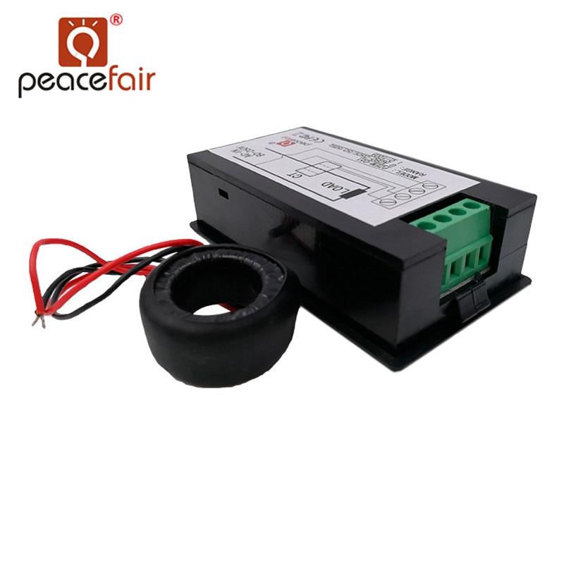"""""""Peacefair"""" vienfazis skaitmeninis voltmetro ampermetras AC - Matavimo prietaisai - Nuotrauka 2"""