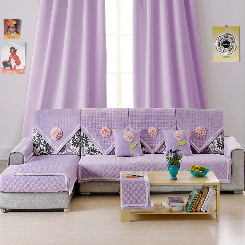 Hot Sell Seat Sofa Cover Set Home Decor Anti Mite Manta Slipcover Couch Cover For