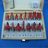 1 2 12 7mm 15 PCS Shank Tungsten Carbide Router Bit Set Wood Woodworking Cutter Trimming