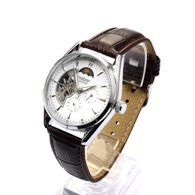 Hot Sale Luxury Mechanical Watch Men Watch Fashion Skeleton Watch Leather Business Men's Watches Hour Clock relogio masculino