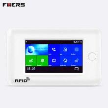 FUERS PG106 2G 3G GSM WiFi Беспроводная умная домашняя система охранной сигнализации Поддержка 10 языков работоспособность с IP камерой APP Control