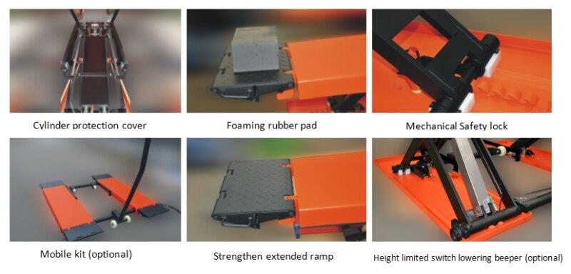 Средний подъемный гидравлический портативный автомобильный подъемник небольшой автомобильный ножничный подъемник для продажи