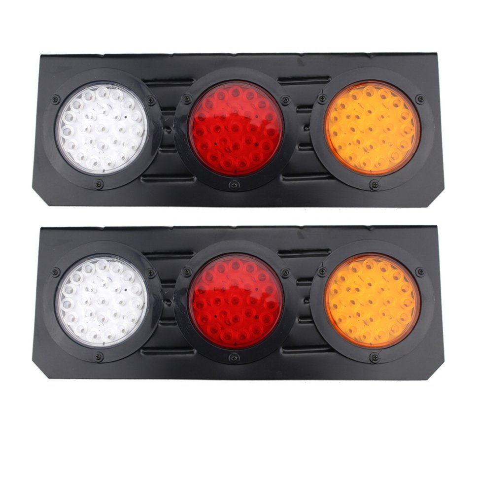 2Pcs/1Pair 12V 72 LEDs Metal Frame Waterproof Tail Rear Stop Light Brake Signal Lights Indicator Light For Truck Trailer 9006 12w 650lm 4 led white light car foglight lamp w cree xp e silver red black dc 12 24v