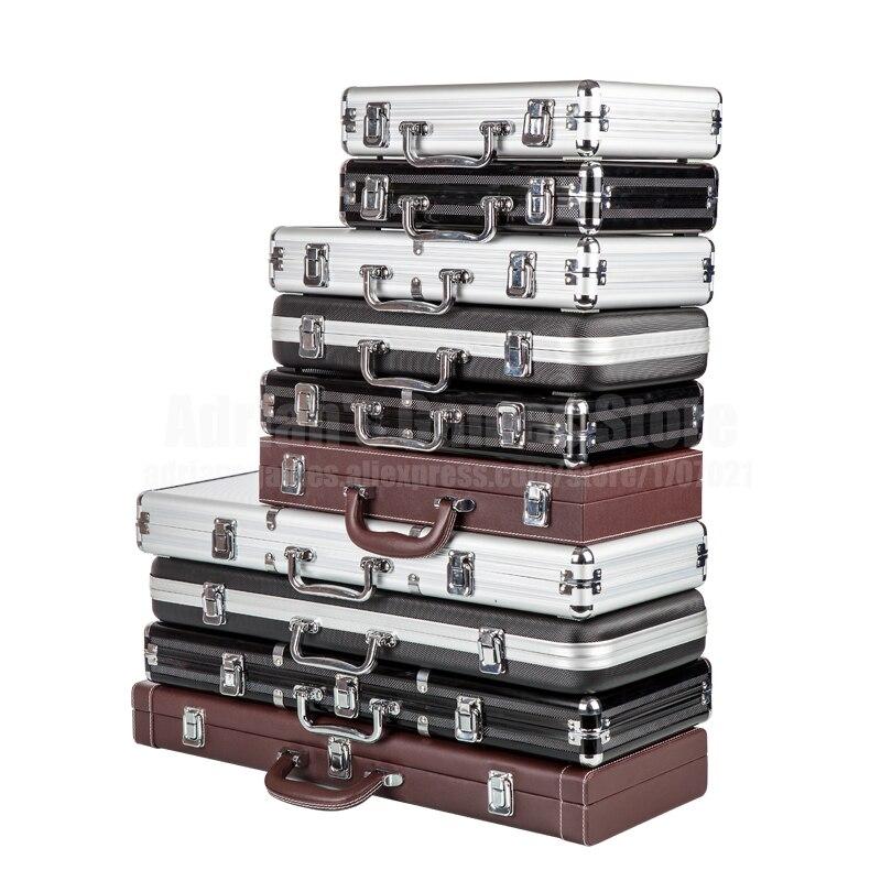 200/300/500 pièces capacité jetons de Poker caisse conteneur jetons de Poker porte-documents boîte de rangement jetons de Poker valise