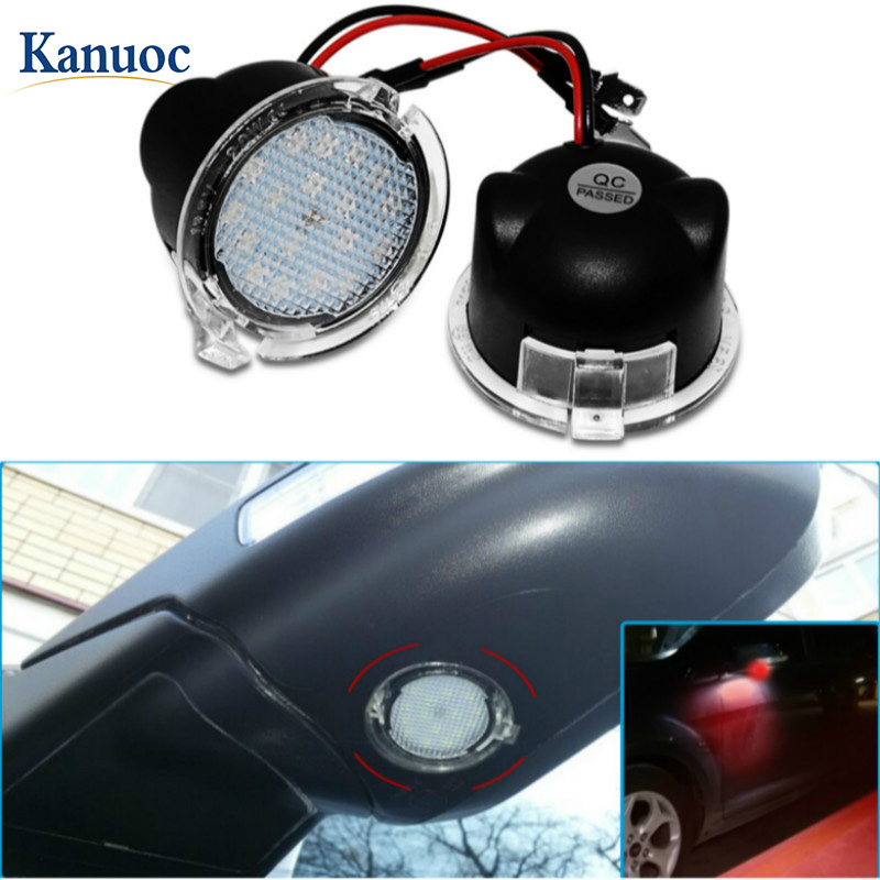 2Pcs LED Under Side <font><b>Mirror</b></font> Puddle Light <font><b>Accessories</b></font> <font><b>for</b></font> <font><b>Ford</b></font> Edge Fusion Flex <font><b>Explorer</b></font> Mondeo Taurus F-150 Expedition image