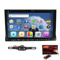 Pupug 7 polegada Tela Espelhamento Android 4.2 In Dash Double Din HD Capacitivo Multi-Tela de toque Do Carro DVD Player GPS Estéreo Navigati