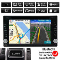 Car gps DVD Player Navigation Stereo HD tape recorder Radio Audio Video Player In Dash Bluetooth FM AM RDS 8GB GPS Card USB SD