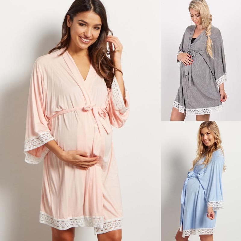 5cfac47c8767 Для беременных и матерей после родов родовой халат доставка больница ночные  рубашки для кормящих пижамы для