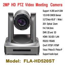 2.0 Megapiksel 20x Zoom PTZ Video Konferans Kamera Tele-eğitim Için HD-SDI IP HDMI WIFI Modülü Ile, ders Yakalama Toplantı