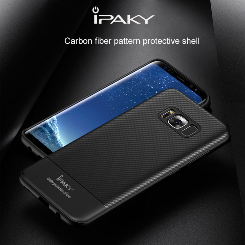 For Samsung Galaxy S8 Case Original IPAKY soft tpu full Protective anti fingerprint slim Back Cover For Samsung S8 Case capa