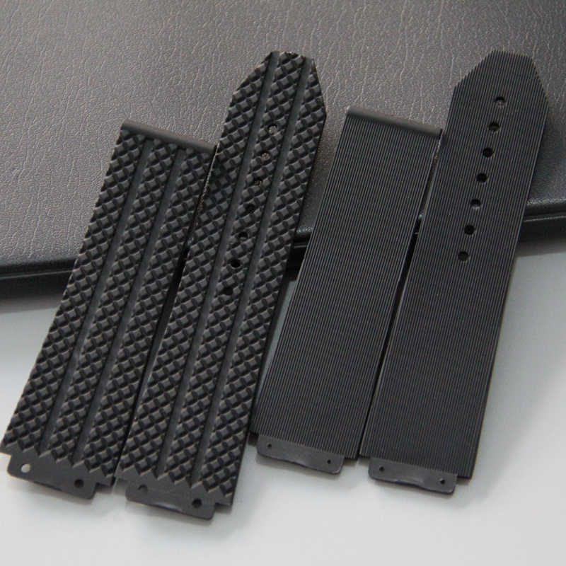 New Silicone Rubber watch band 25*17mm 25x19mm For Hublot strap for BIG BANG authentic Watchband logo stainless buckle tools