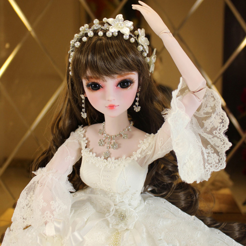 Bridal Bunny BBGirl Sd Doll BJD Doll Baby 1/6 Joint Costume Doll with Clothes Makeup Dolls for Girls Birthday Gift Toys 60cm bjd 1 3 dolls 23 inches handmade fuyao baiqian huaqiangu doll large joint sd princess doll girls toys birthday gift