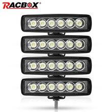 6inch LED work light bar 18w Spot Beam Spotlight running Fog lights Headlights For UAZ ramp Jeep Moto Offroad 4x4 ATV niva SUV