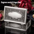 Classic fashion metal jewelry case/ jewelry box /showing display,flower,free engraveing,wedding gift for friend bride Bridesmaid