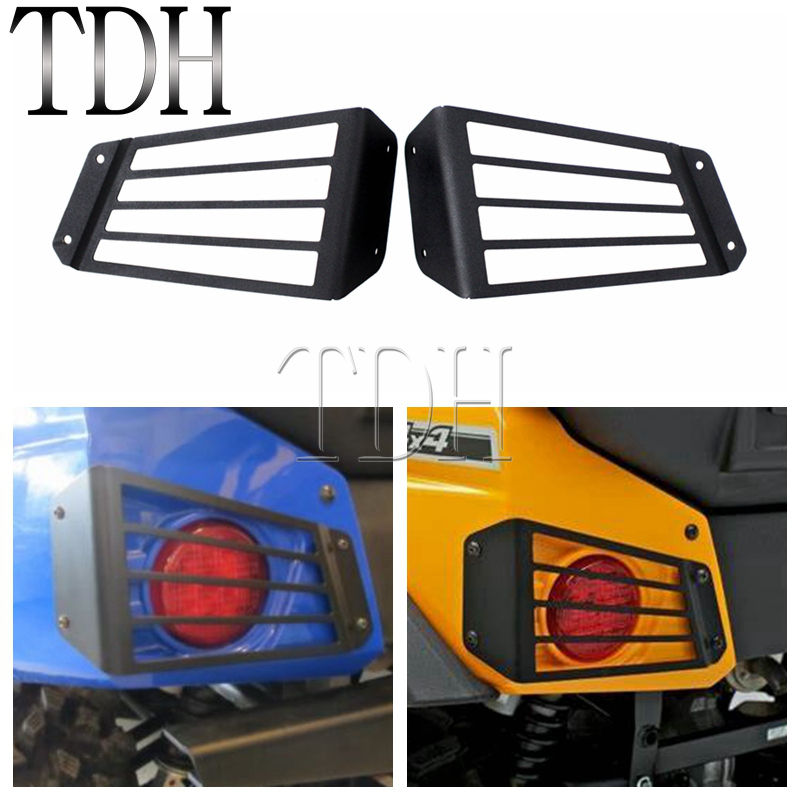 Black Tail Light Guards Protection Taillights Grill Cover Protection For Kawasaki Teryx4 750 EPS LE 4x4 CAMO LE 2012 2013 2014