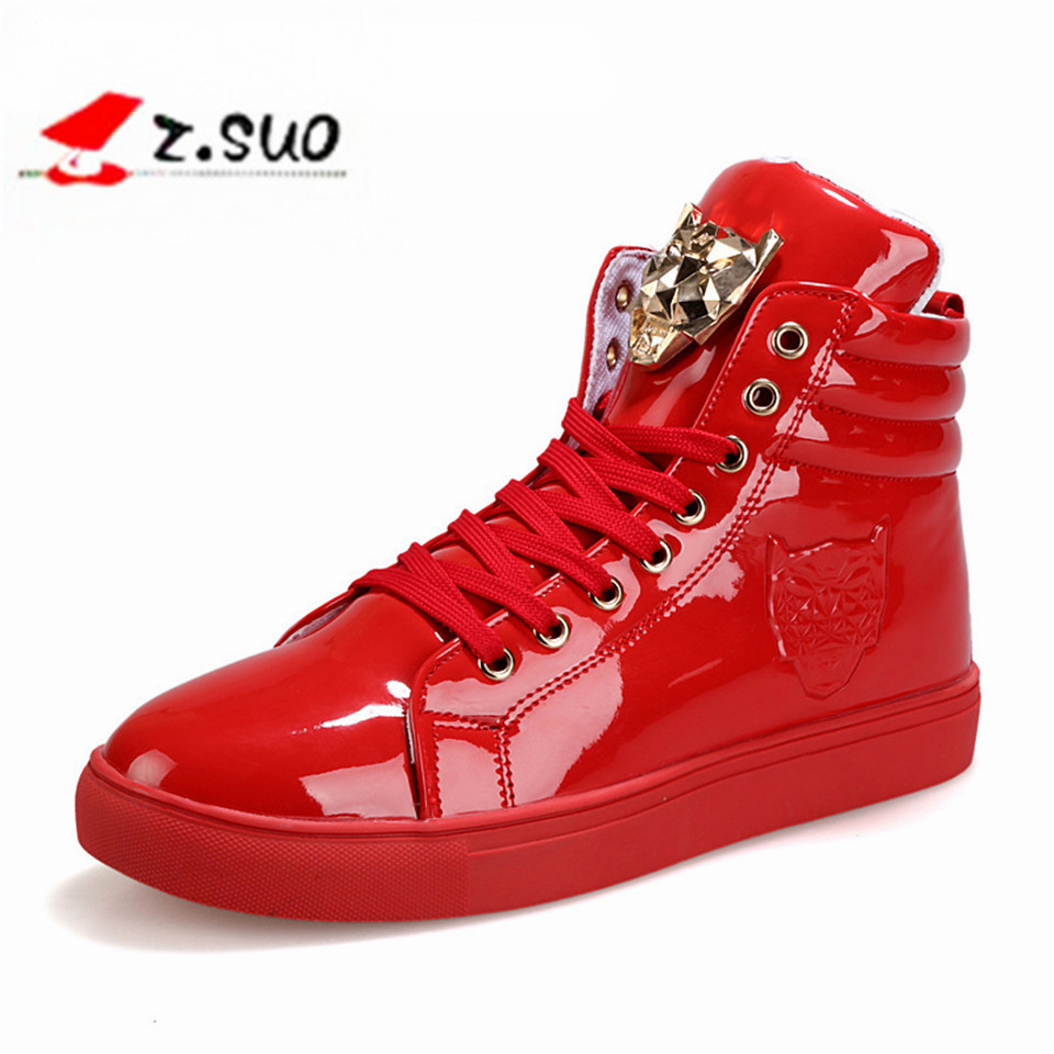 2017 Spring And Autumn Famous Brand Men High Top Casual Metal Head Shoes Flat Fashion Men  Zapatos Hombre shoes men naked and famous naked and famous in rolling waves 2 lp