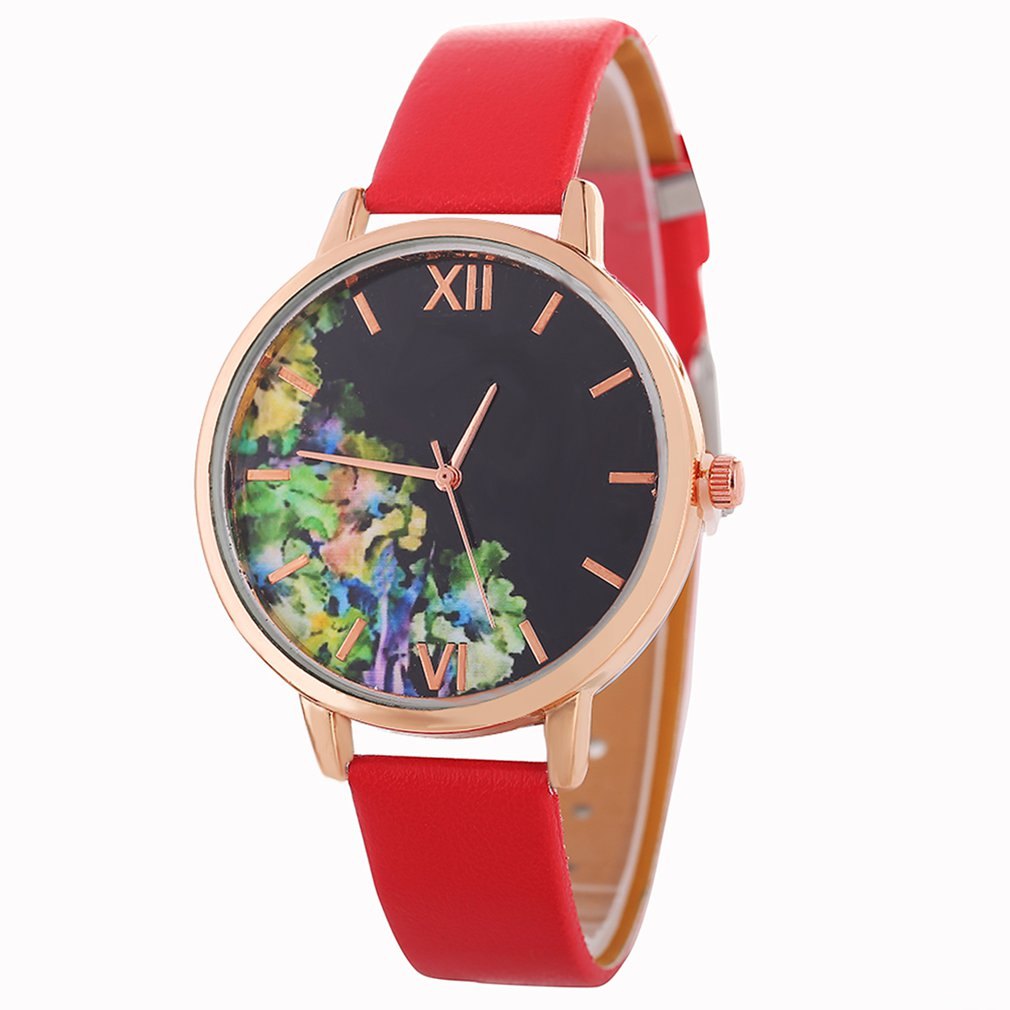 Elegant Women's PU Leather Strap Quartz Watch with High Quality Fashionable Popular Nice Sweety Gift Relogio Feminino