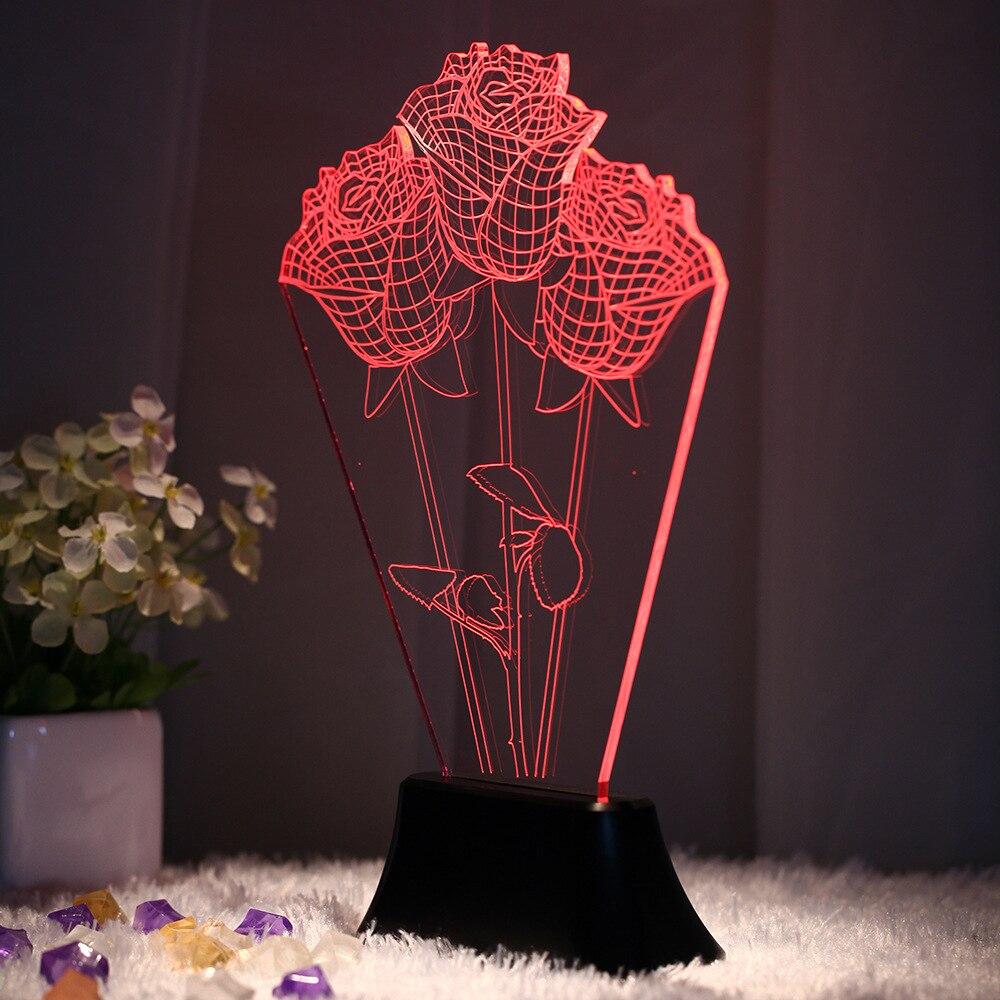 Kreatywny 3d Kolorowe Vision Lampa Stereo Sypialnia