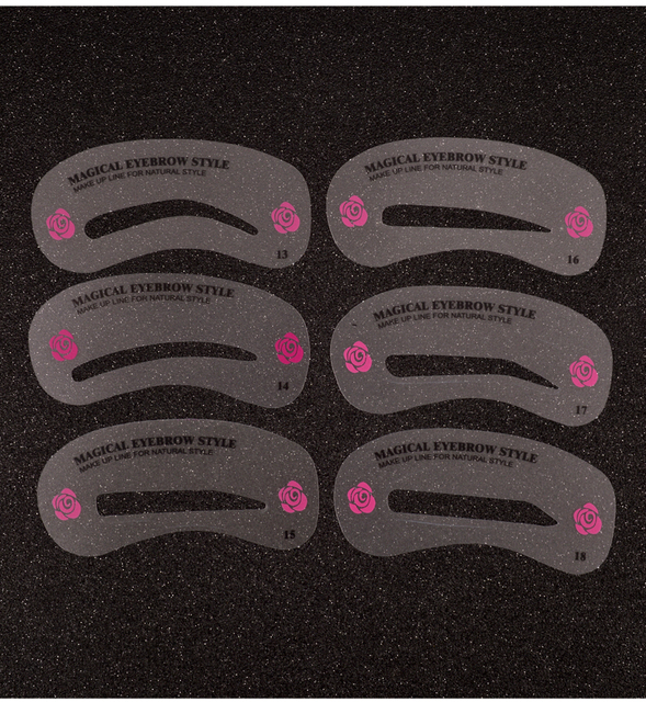 24 Pcs Pro Reusable Eyebrow Stencil Set Eye Brow DIY Drawing Guide Styling Shaping Grooming Template Card Easy Makeup Beauty Kit 3