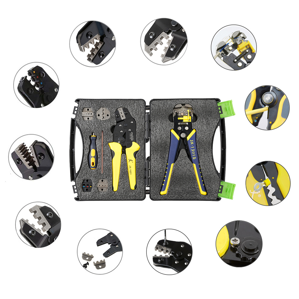 PARON Professional Wire Crimpers Engineering Ratcheting Terminal Crimping Pliers Wire Strippers Bootlace Ferrule Crimper Tool