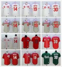 1e50b8254 MLB Men's Cincinnati Reds Pete Rose Joey Votto Ken Griffey Jr jerseys 14 19  30(