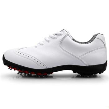 Cheaper Golf Shoes for Men Genuine Leather Waterproof Golf Shoes Mens Breathable Shoes Slip Resistant Sports Training Shoes D0604