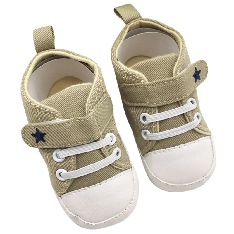 Infant Toddler Baby Shoes Soft Sole Crib Shoes No-Slip Canvas Sneaker Cartoon Star Pattern First Walkers Hot Selling Shoes