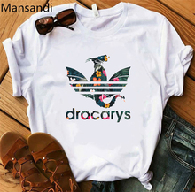 Dracarys Women t shirt Mother of Dragons vogue tshirt Funny t-shirt Game Throne women Tops harajuku tee femme