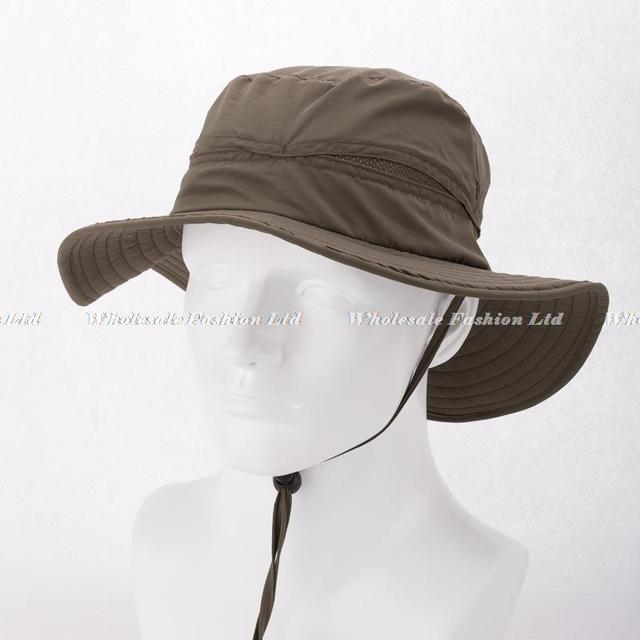Wholesale Mens Plain Bucket Hats with String For Men Blank Bucket Hat  Womens Wide Brim Hiking Caps Summer Brimmed Sun Cap China 37ff3091d7d