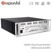 USB-15.0AP 1500 w amplificador Profissional amplificador e amplificador de potência com usb de Alta potência