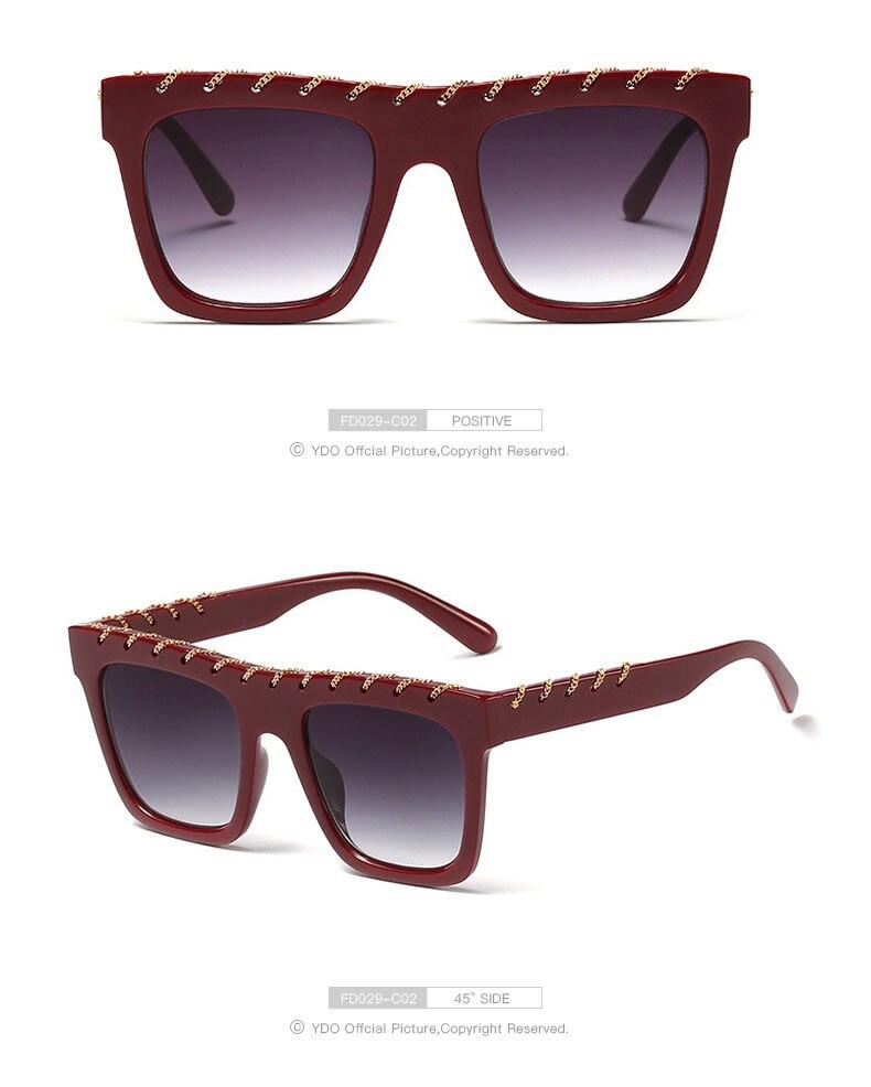 YDO Big Size Sunglasses Women 2019 Square Sunglasses Luxury Brand Vintage Sunglasses  Oversized Sun Glasses Fashion Shades UV400 (8)