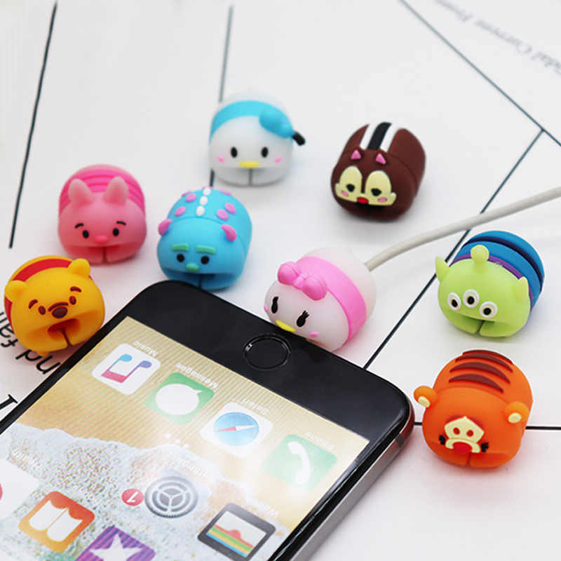 New Data Animal Bite Cable Chompers Cartoon USB Bite Cable Protector Accessory for iPhone Cable Winder Charger Line Protection