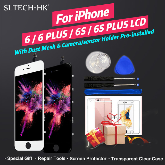 Grade AAA+++ For iPhone 6 6S Plus LCD With 3D Force Touch Screen Digitizer Assembly For iPhone 5S Display No Dead Pixel