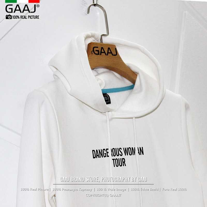 f911334bd ... Exclusive Hoodies Dangerous Woman 2018 Tour Bunny White Black Hoodie  Womens sweatshirts Fashion Streetwear Hooded ...