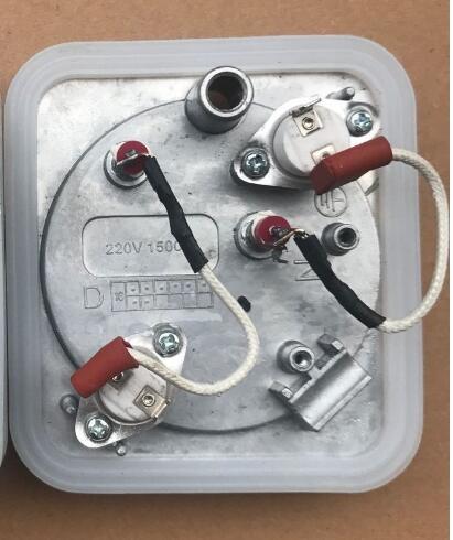 220 V 1500 W YGJ15B3/MY GJ15B3 Vêtement Vapeur Pièces Thermostat contrôle de La Température de Chauffage pad avec bague d'étanchéité 10.2X9.2 cm dans Pièces de défroisseur de vêtements de Appareils ménagers
