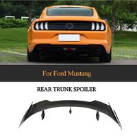 Ford için araba arka bagaj dudak Spoiler Ford Mustang Coupe 2015 - 2019 için karbon Fiber arka kanat Spoiler