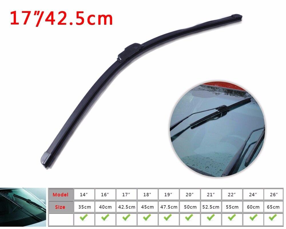 Citall universal 17 j hook soft bracketless frameless aaa rubber window windshield wiper blade for