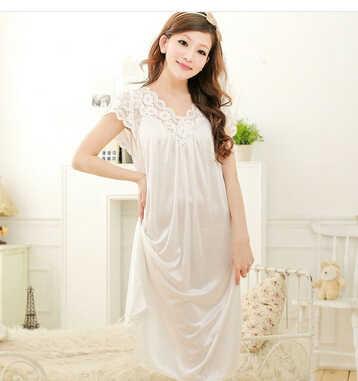 ... Бесплатная доставка женские черные кружева сексуальная ночная рубашка  для девочек большие размеры халат пижамы большого размера ... 37540e9c58fb6