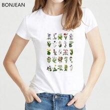 Wildflower Graphic Tees Women flower Print T Shirt harajuku kawaii Plant shirt Grunge 90s female t-shirt vogue Travel Tops
