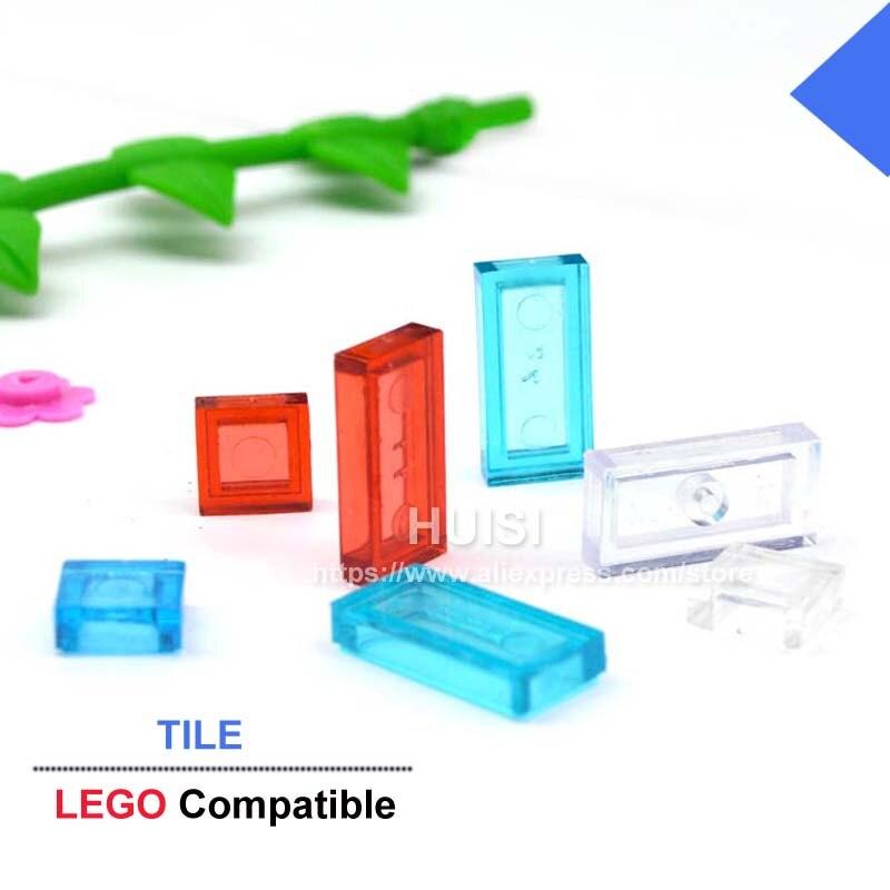 Children Building Blocks Plastic Construction Toys Compatible Bricks Parts Tile Clear Educational Kids DIY Toys Set 6 Years