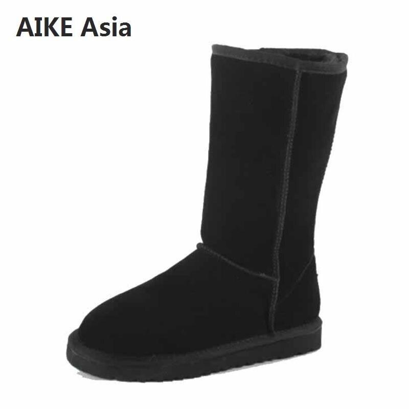 cc2a49338 Известный бренд; зимние сапоги из натуральной кожи на меху; Женские  Австралийские ботинки наивысшего качества; зимние женские теплые ботин.