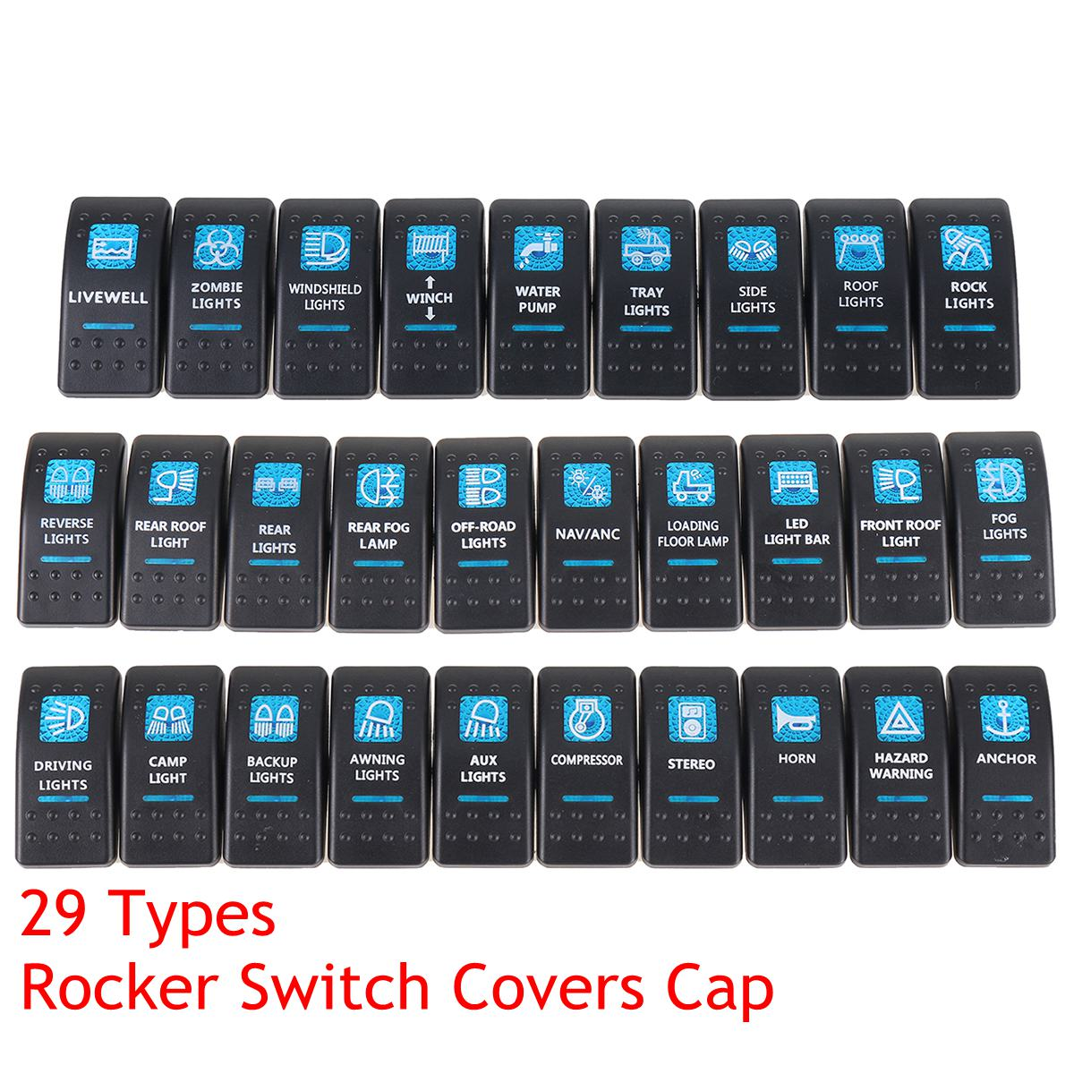 1pcs Boat Car Truck Carling Rocker Switch Covers Cap Blue