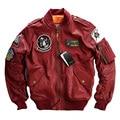 MA1 Men's Leather Jacket MA-1 Embroidery Baseball Clothing  Motorcycle Jackets Avirexfly